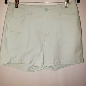 Dockers Women's Two Pocket Mint Green Shorts Size